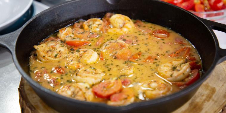 Isaac Toups' Drunken Shrimp + Dirty Rice