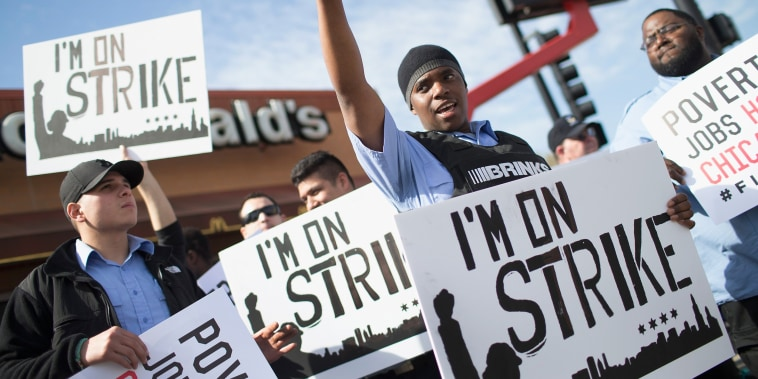 Image: Fast Food Workers Stage Nationwide Protests For Higher Wages