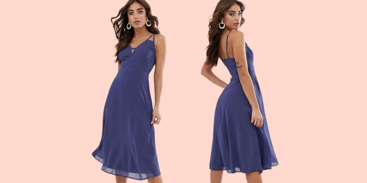 0d37864afdb ASOS is facing criticism for using binder clips to alter the fit of a dress  online