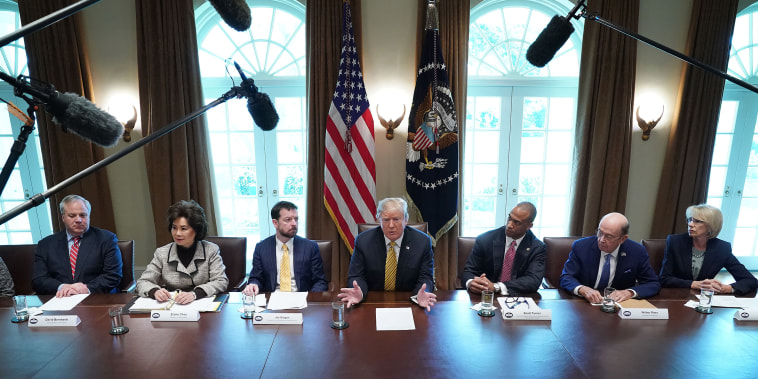 Image: Trump Attends White House Opportunity And Revitalization Council Meeting