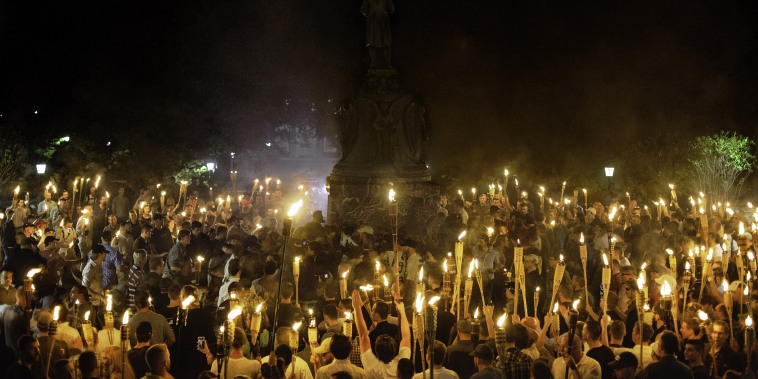 Image: Alt Right, Neo Nazis hold torch rally at UVA