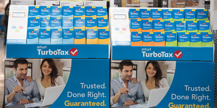 Intuit TurboTax software on display at a retailer on Thursday, Jan. 28, 2016 in Foster City, California.