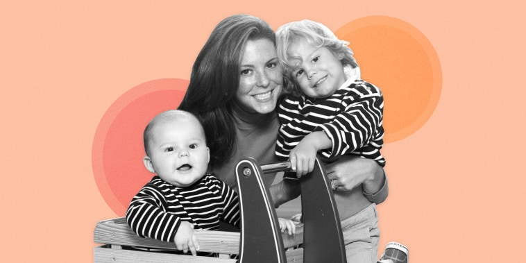 Image: Stephanie Ruhle and her two sons.