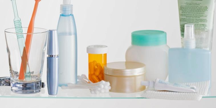 Still life of medicine cabinet