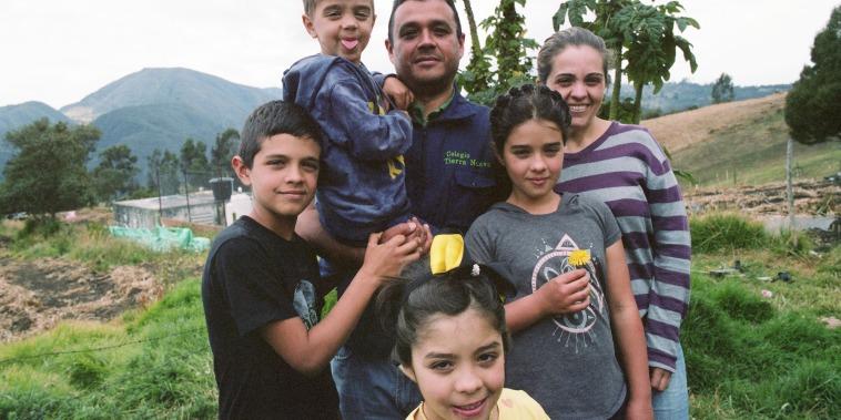 The Zuleta family in Colombia