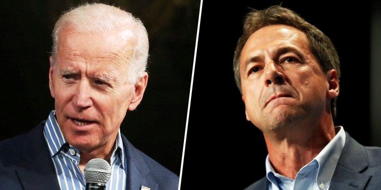 Image: Presidential candidates Joe Biden and Steve Bullock.