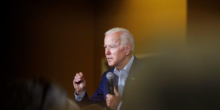 Image: Democratic 2020 U.S. presidential candidate and former Vice President Joe Biden speeks at an event at Iowa Wesleyan University in Mount Pleasant
