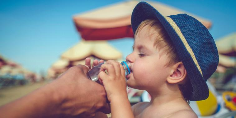 Image: Child drinking water