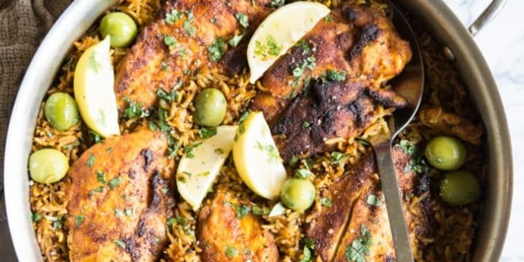 Moroccan Chicken & Rice Skillet