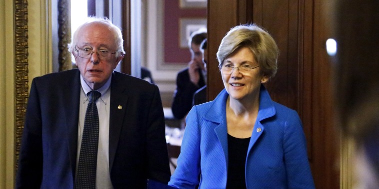 Image: Bernie Sanders Elizabeth Warren