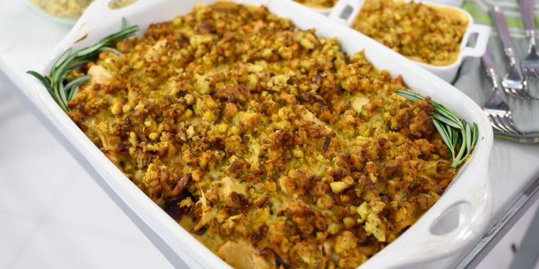 Molly Yeh's Pomegranate-Molasses Turkey Drumsticks + Leftover Turkey Shawarma + Turkey Wild Rice Hotdish with Stuffing