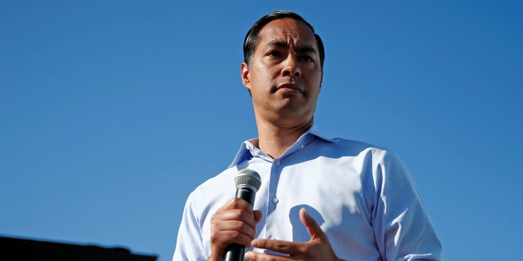 Image: U.S. Democratic presidential candidate Julian Castro visits the Iowa State Fair in Des Moines