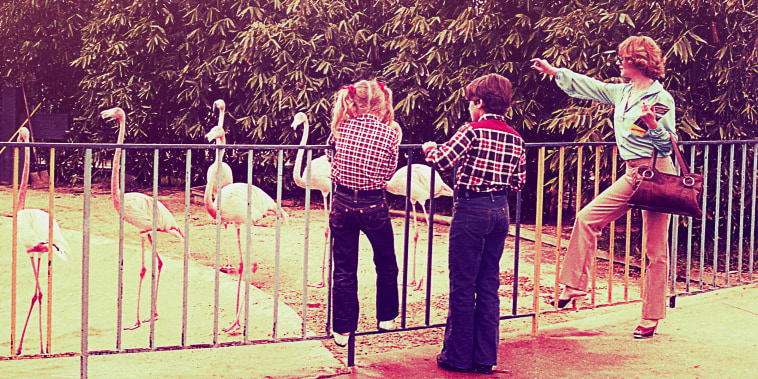 Vintage family day at the zoo
