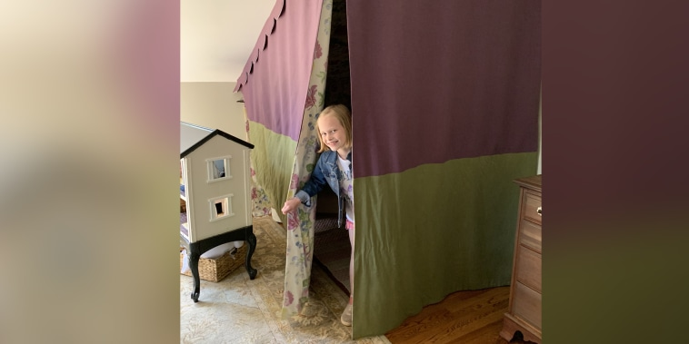 A girl's room gets the cutest reading nook- see inside!