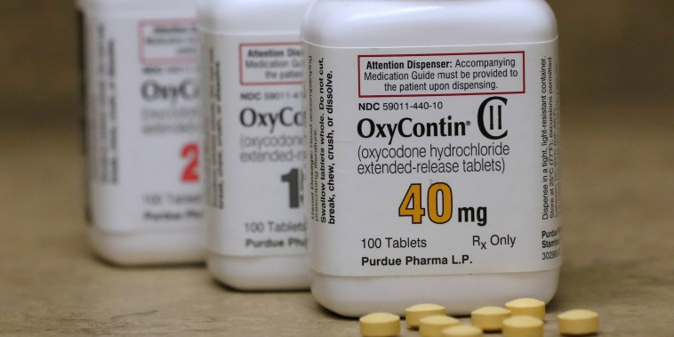 Image: FILE PHOTO: FILE PHOTO: Bottles of prescription painkiller OxyContin made by Purdue Pharma LP on a counter at a local pharmacy in Provo
