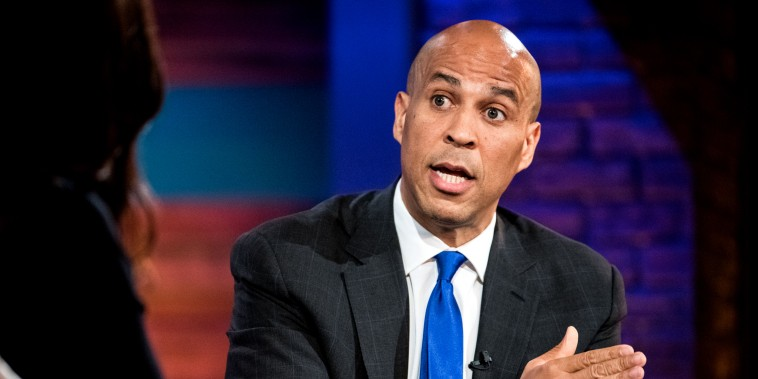 Image: Sen. Cory Booker, D-NJ, speaks at the Black Economic Alliance Forum in Charleston on June 15, 2019.