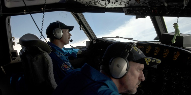 Lieutenant Kevin Doremus, the co-pilot of the NOAA Hurricane Hunter's P-3 Orion, flies through the eye of Hurricane Dorian at 10,000 feet on Sept. 5, 2019. The planes serve as research laboratories with wings when flying in hurricanes, providing a real-time CAT scan of the storms and creating a three-dimensional image used by the National Hurricane Center to build real-time forecasts and aid in future predictions and analysis. The information they gather is crucial to the lives of the people in the path of the storm.