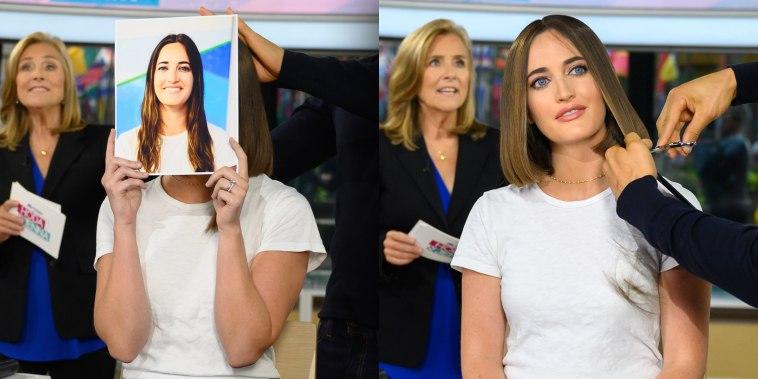 Hair segment images
