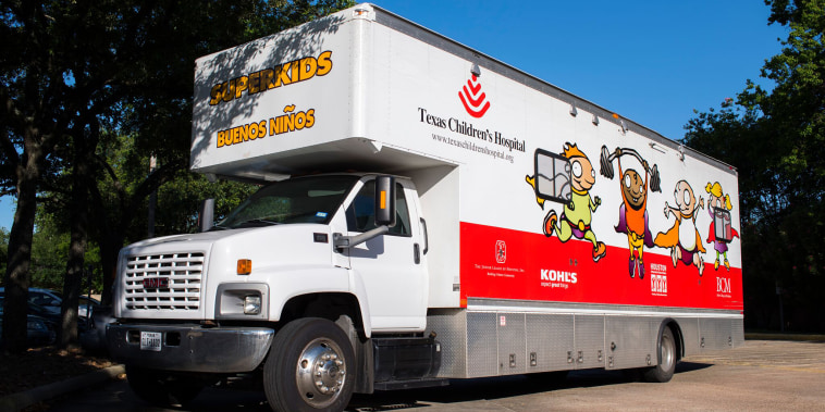 Texas Children's Hospital now deploys highly trained clinicians to the two mobile units that since 2000 provide health-care services like immunizations, nutrition, education, and referrals to medical and social services to children.