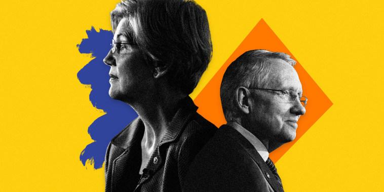 Image: Elizabeth Warren and Harry Reid.