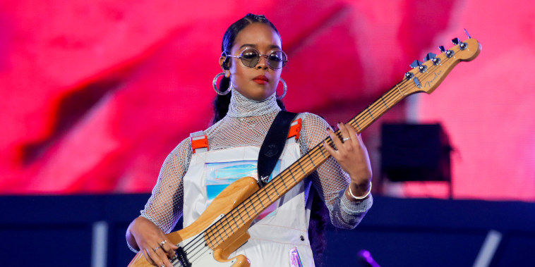 Image: H.E.R. performs at the Global Citizen Festival in Central Park on Sept. 28, 2019.