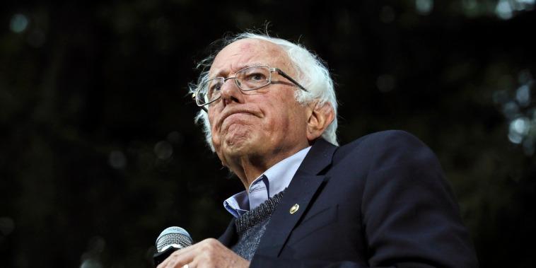 Image: Sen. Bernie Sanders speaks at a campaign event in Hanover, N.H., on Sept. 29, 2019.