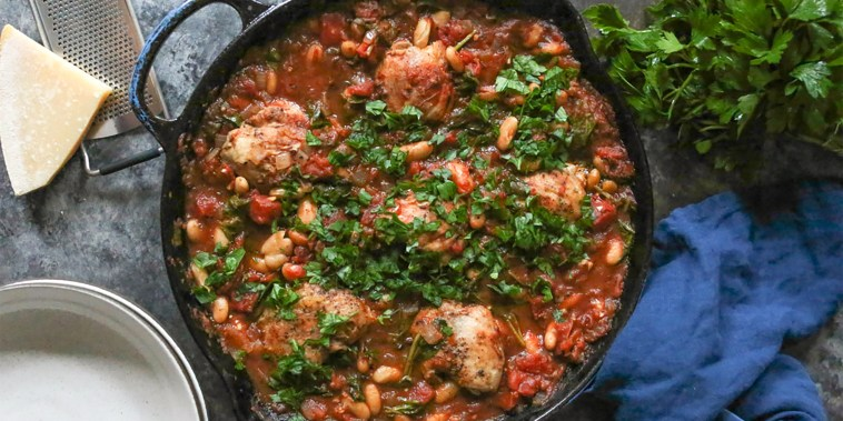 Image: Chicken dish recipe, skillet