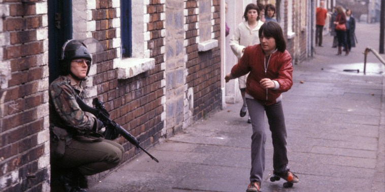 Image: Children play on the streets of Belfast in 1981.