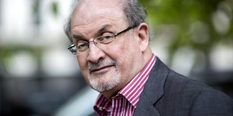 Image: Salman Rushdie in Cheltenham, England, in 2015.