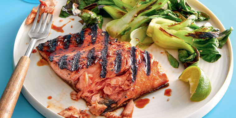 Image: Honey soy grilled salmon