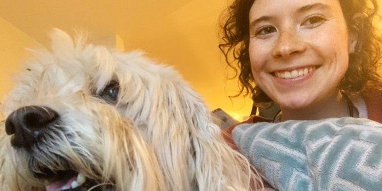Camille Wood walks dogs as a side hustle.