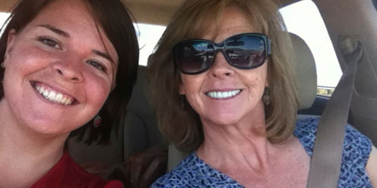 Image: Kayla Mueller, 26, an American humanitarian worker from Prescott, Arizona with her mother Marsha Mueller.