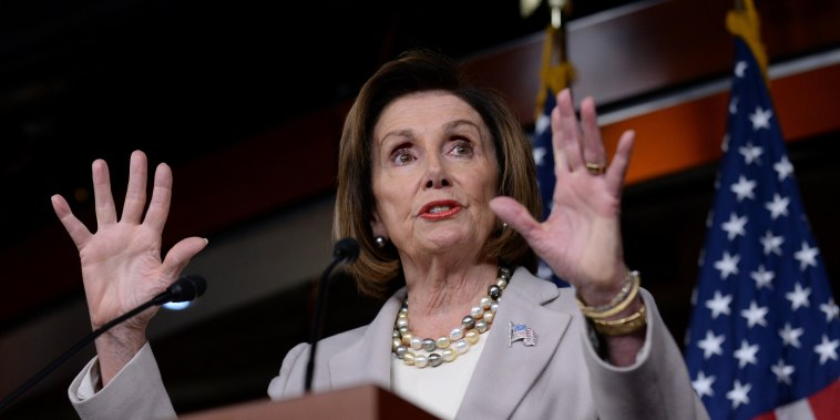 Image: U.S. House Speaker Pelosi speaks during a news conference on Capitol Hill in Washington