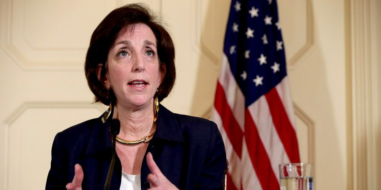 Image: Assistant Secretary of State for Western Hemisphere Affairs Roberta Jacobson answers questions at a news conference in Havana, Cuba, in 2015.