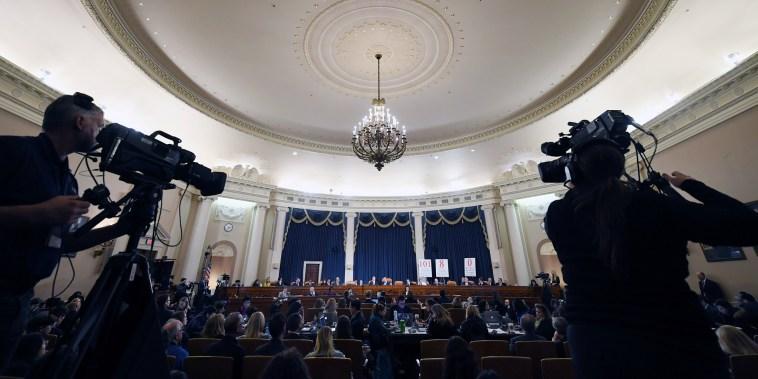 Image: U.S. President Trump impeachment inquiry hearing in Washington