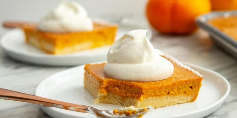 Pumpkin Persimmon Slab Pie