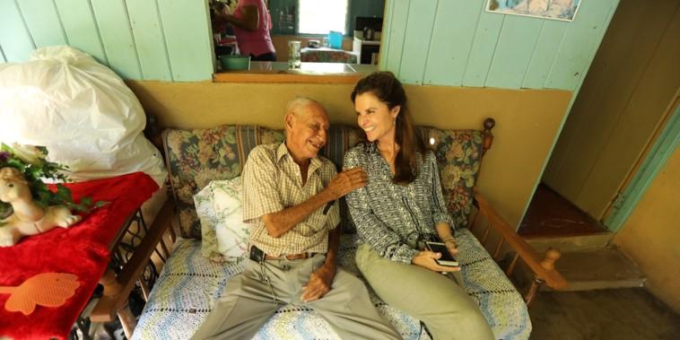 Jose Bonifacio and NBC's Maria Shriver