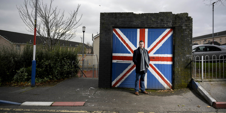 Image: DUP councillor Graham Warke pictured in the Fountain estate area of Londonderry.