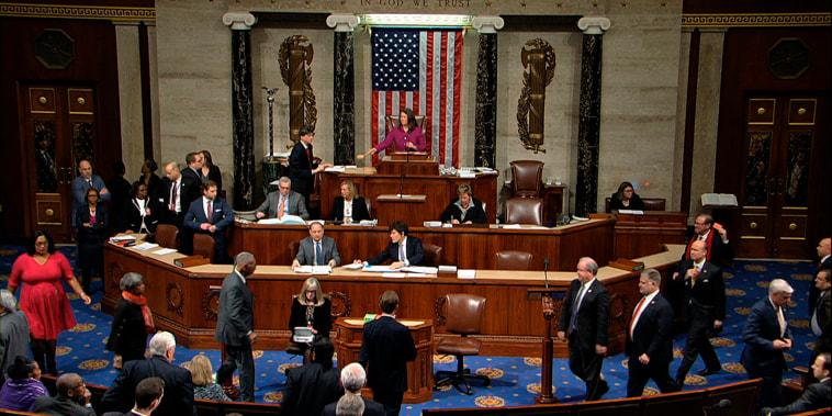 Image: Impeachment vote, House of Representatives
