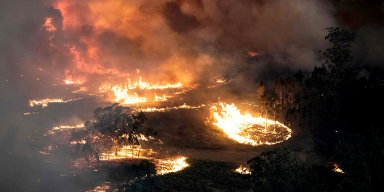 Image: Raging bushfires near Bairnsdale in Gippsland, Australia, on Dec. 31, 2019.
