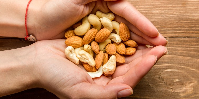 Hanful of nuts.