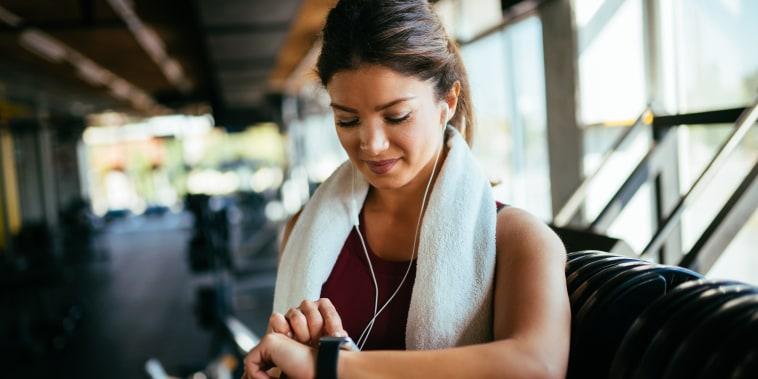Image: Woman at gym