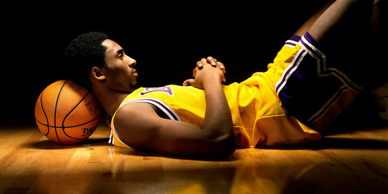 Image: Kobe Bryant of the Los Angeles Lakers in 1998.