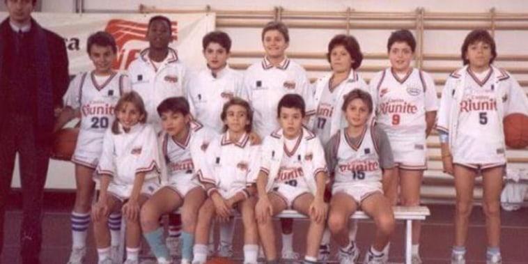 Image: Kobe Bryant's 'Cantine Riunite' youth team in the early 1990's in Reggio Emilia, Italy.
