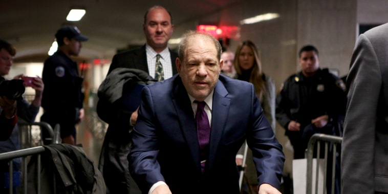 Image: Harvey Weinstein arrives at court for his sexual assault trial in New York on Jan. 27, 2020.