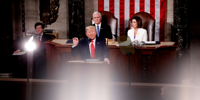 Image: President Donald Trump delivers the State of the Union address at the Capitol on Feb. 4, 2020.