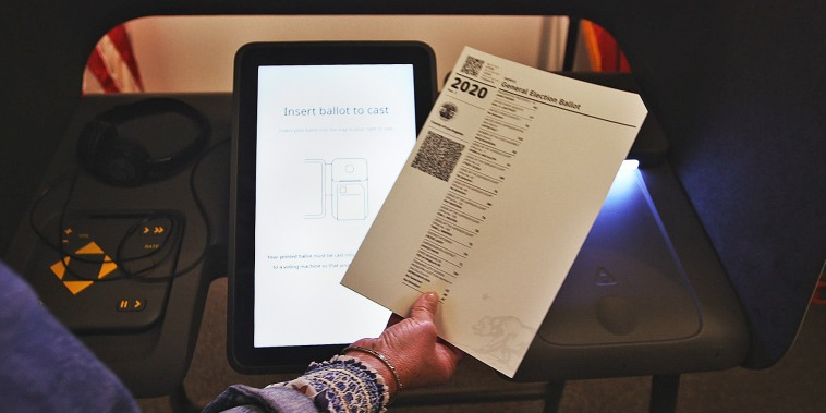 The new Los Angeles County voting system, the Voting Solutions for All People or VSAP, created by county registrar Dean Logan.