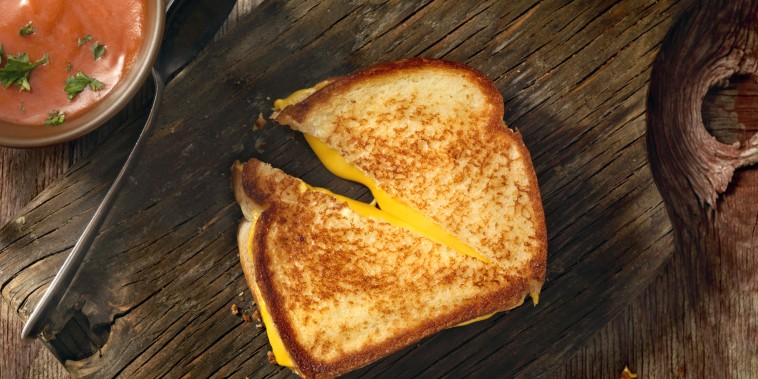 Grilled Cheese Sandwich With Tomato Soup