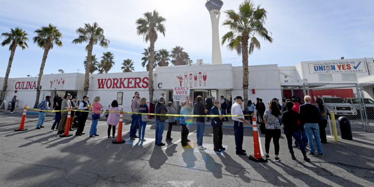 Image: Early Voting Begins In Nevada Ahead Of State's Caucus Next Week