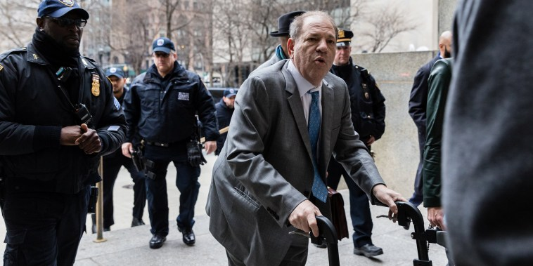 Image: Film producer Harvey Weinstein arrives at New York Criminal Court for his sexual assault trial in the Manhattan borough of New York